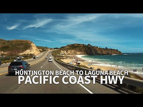 PACIFIC COAST HIGHWAY - Driving From Huntington Beach To Laguna Beach, Los Angeles, California, USA
