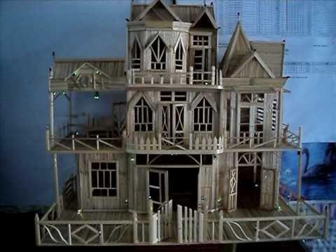 Mô hình nhà bằng tăm tre - Xuân Hùng