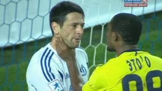 Стычка Это'О и Фернандеса в матче 'Динамо М - Анжи' 1:0