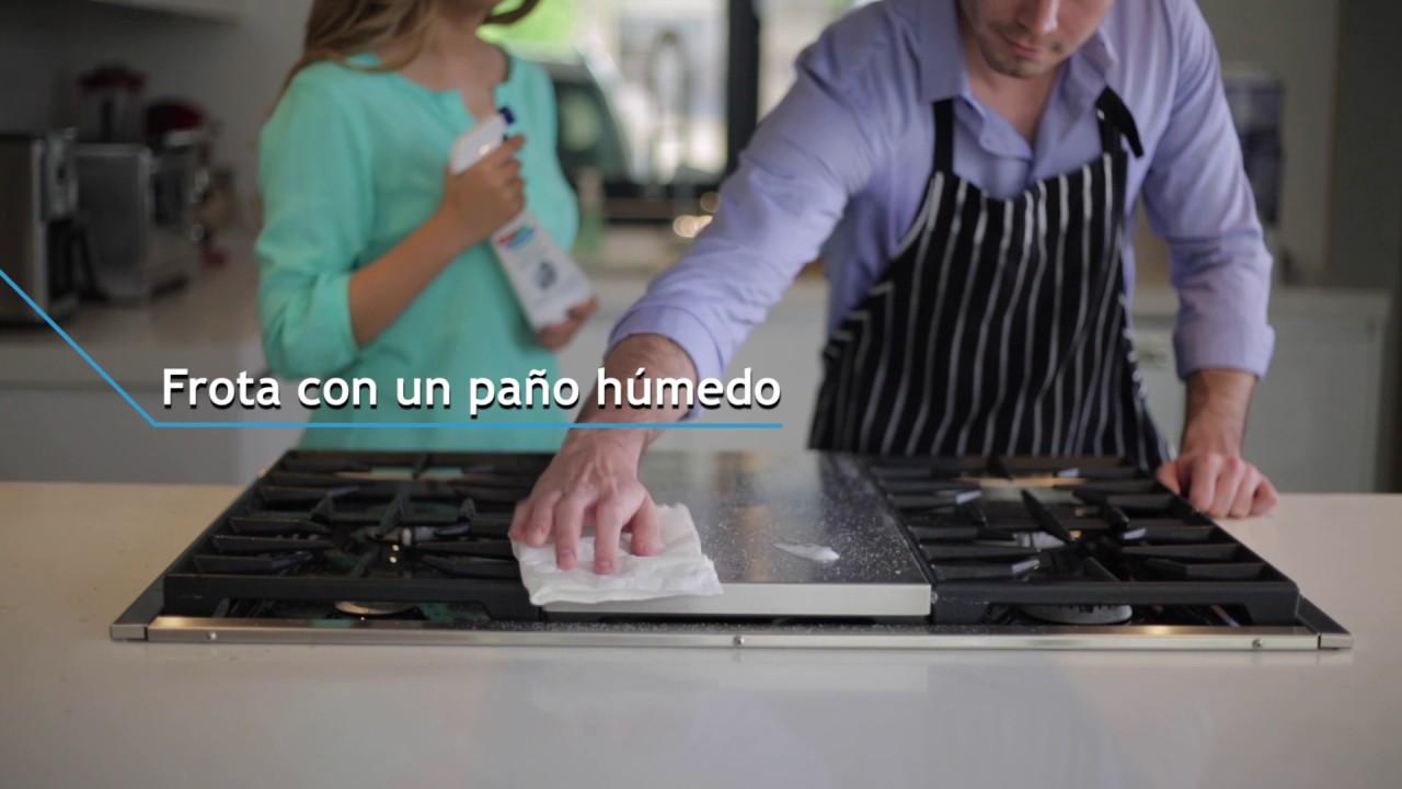 C mo limpiar el acero inoxidable de la cocina youtube - Como limpiar acero inoxidable ...
