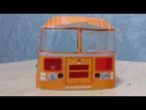 видео: Автобус из бумаги : #1. ПАЗ 672М.
