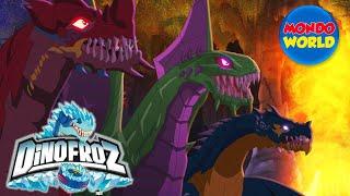 DINOFROZ capitulo 16 en español | Dibujos animados de dinosaurios | Dinosaurios vs dragones