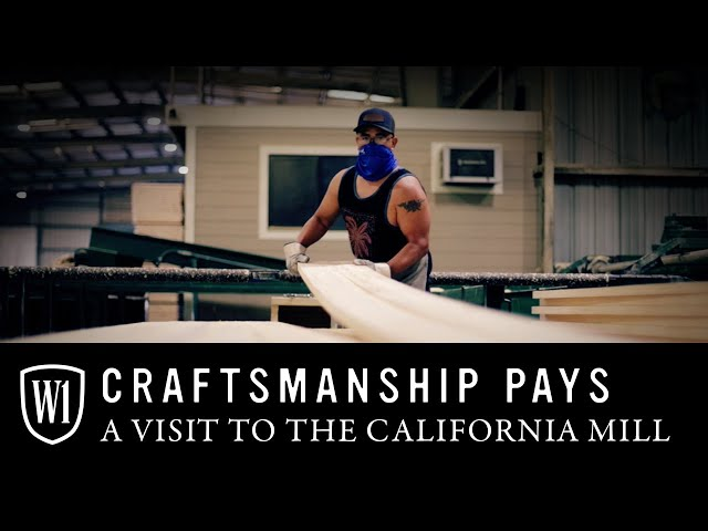 WindsorONE, Craftsmanship Pays. Manufactured in the U.S.A.; a visit to the mill in Willits, CA.