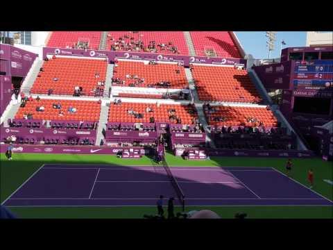 Y. Shvedova & O. Savchuk Vs K. Srebotnik & A. Spears 2017 WTA Doubles Qatar Open Final