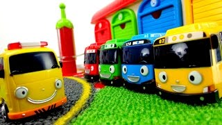 Мультики про машинки: Автобус Тайо! Пожарная машина заболела. Игрушки из мультфильма