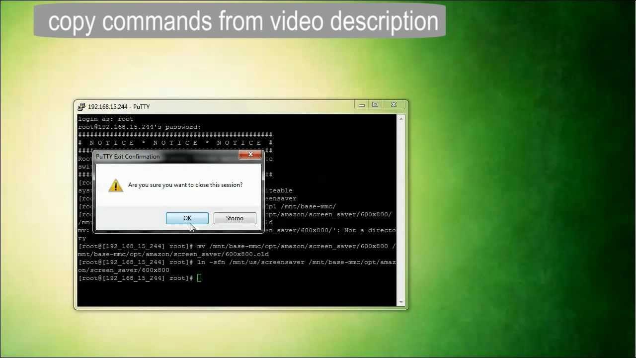 Kindle 4 Hack - Install Custom Screensavers