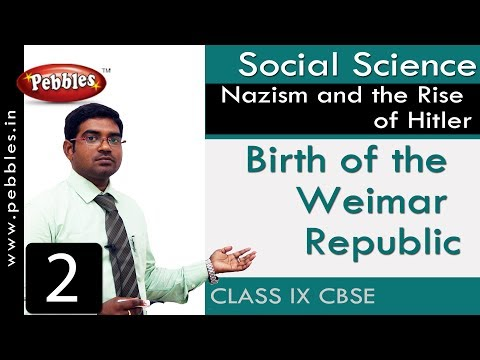 Birth of the Weimar Republic : Nazism and the Rise of Hitler | Social | CBSE Syllabus | Class 9