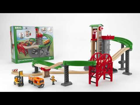BRIO World - 33887 Lift & Load Warehouse Set