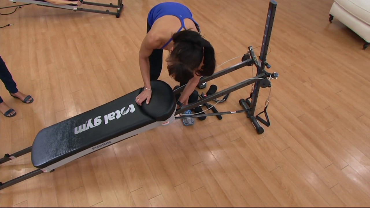 Total Gym Fusion with STEP Attachment & Pilates Kit on QVC ...