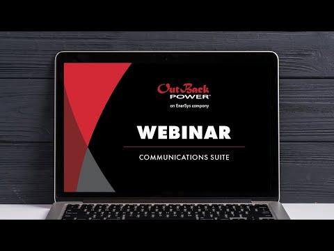 OutBack Power Communications Suite Webinar