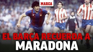 Los aficionados del Barça recuerdan a Maradona I MARCA