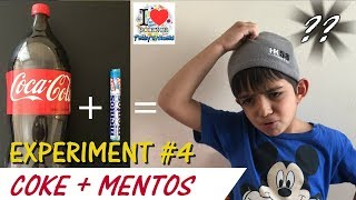 Coke + Mentos Experiment | Coke Fountain | Science Experiment for Kids  4 | Prakys World