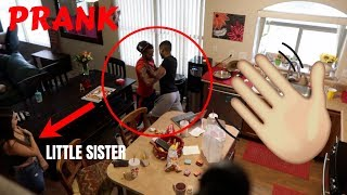 I HIT OUR LITTLE SISTER IN FRONT OF OUR BROTHER PRANK! *Gone LEFT*