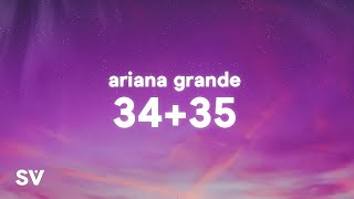 Download lagu Ariana Grande - 34+35 (Lyrics)