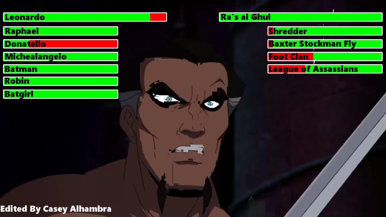 Download Batman vs. Teenage Mutant Ninja Turtles (2019) Final Battle with healthbars 1/2