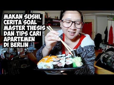 Makan Sushi sambil ngobrol soal Master Thesis | Tips mencari Apartemen di Berlin