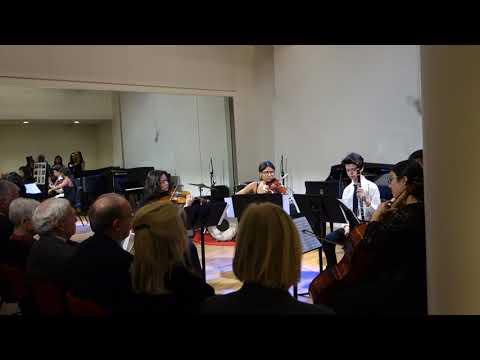 Mozart Quintet for clarinet and strings performed at Barbara E. Field Recital Hall dedication