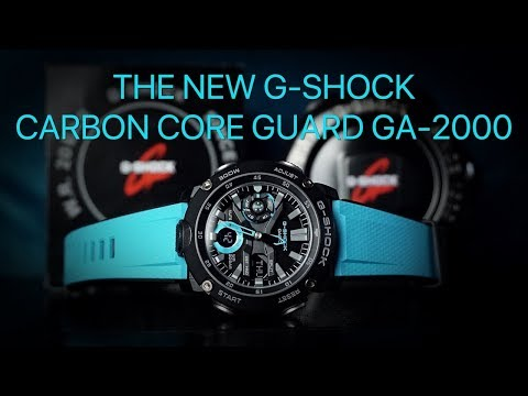 The New G-Shock GA-2000 - Carbon Core Guard!