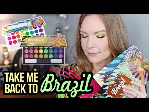 TAKE ME BACK TO BRAZIL PALETTES! | BH Cosmetics | Swatches, Review, & Tutorial! | LipglossLeslie
