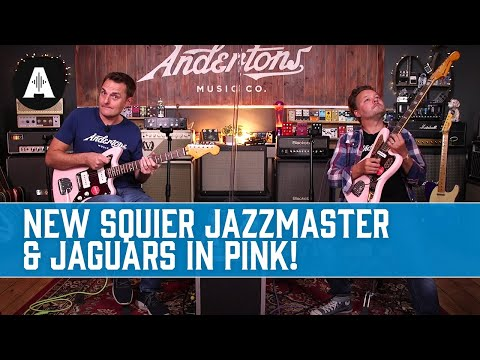 """""""Pink It&39;s Like Red But Not Quite""""  Limited Edition Squier Classic Vibe Jazzmaster & Jaguars!"""