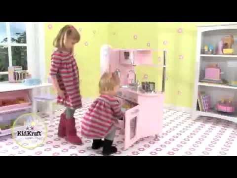 KidKraft Rosa Retro Küche 53179 - YouTube