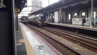 2020/03/22JR四国8600系特急しおかぜ.いしづち18号岡山.高松行丸亀駅到着