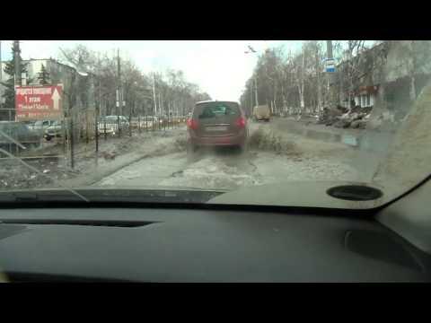 Road conditions in Togliatti city in spring time - 2