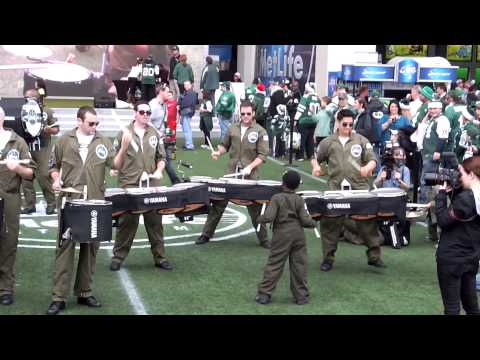 new-york-jets-comeback-aviators-drum-line-pregame-12222013-cleveland-vs-nyj