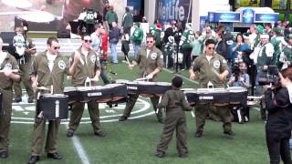 new york jets comeback aviators drum line pregame 12222013 cleveland vs nyj