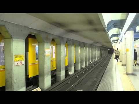 東京メトロ 銀座線 外苑前駅ホーム 2015.11.24 Tokyo Metro Ginza Line Gaienmae Station