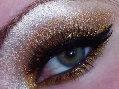 Red glitter eye