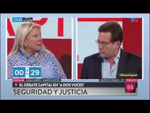 Cruce de Marcelo Ramal a Elisa Carrió por Santiago Maldonado // #DebateCapital