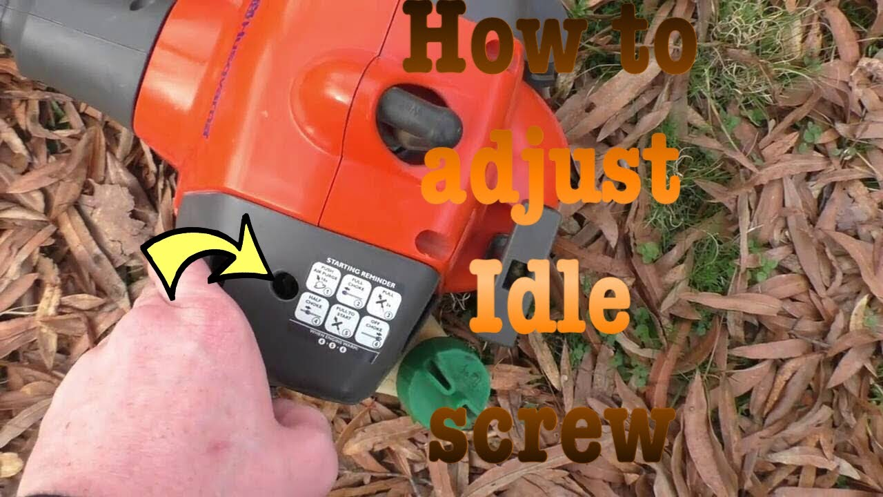 How To Adjust Your Idle Screw On Husqvarna 128ld Youtube 36 Chainsaw Wire Diagram