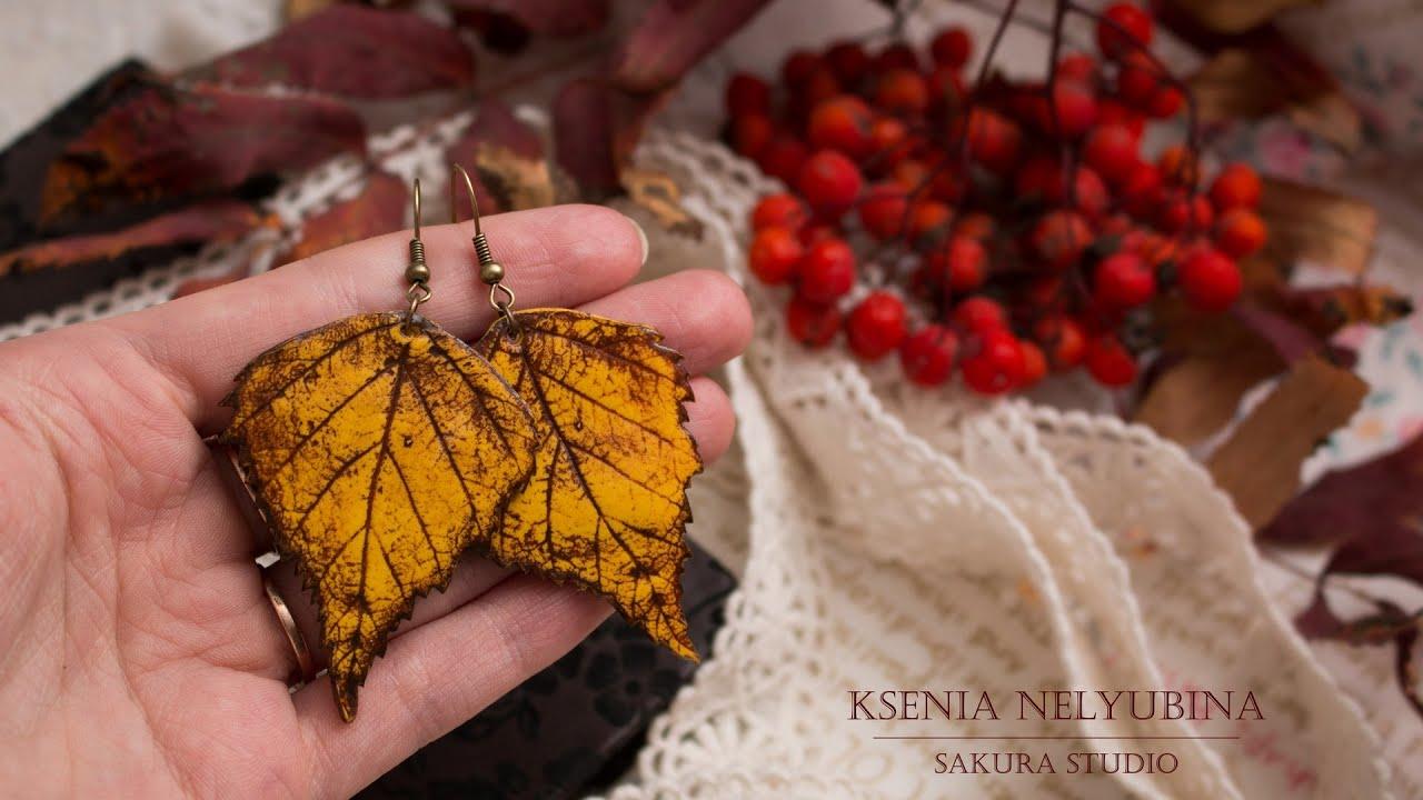 Осенние детские поделки: листья своими руками из солёного теста. Мастер-класс