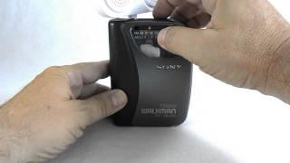 Sony Walkman AM/FM Radio Cassette Player Portable Stereo WM-FX121