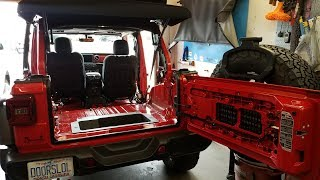 Wrangler JL removal of interior panels & seats for Line-X