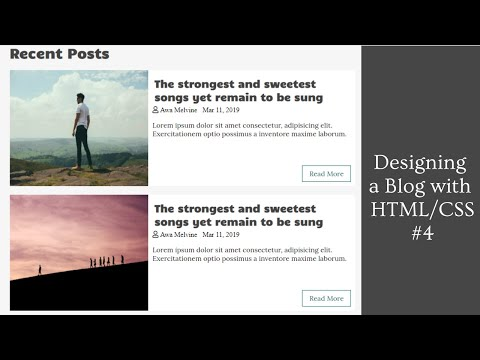 Designing A Post Article | Designing A Blog Using HTML And CSS