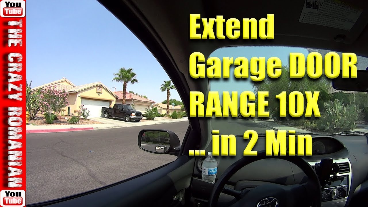 How To Extend 10x Garage Door Remote Range For Free In