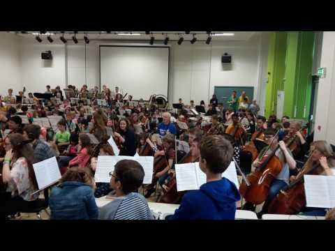 City of Sheffield Youth Orchestra perform to the Music Hub groups