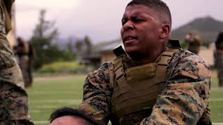 Physical Training (PT) session aboard Marine Corps Base Hawaii