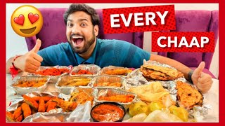 Eating Every Type of Chaap Food Challenge   Veggie Paaji