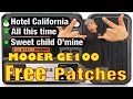MOOER GE100 HOTEL CALIFORNIA, ALL THIS TIME, SWEET CHILD O' MINE PATCHES