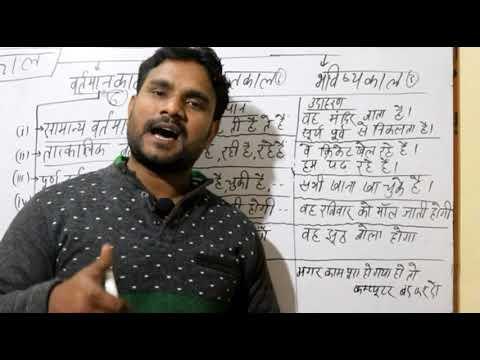 हिंदी व्याकरण|| part 23 || काल, काल के प्रकार||  वर्तमान काल के 6 उपभेद || tense in HINDI Grammar