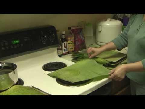 How To Prepare Banana Leaves For Bibingka