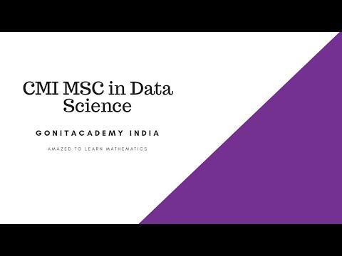 CMI Msc Data Science