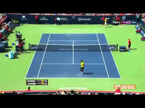 Rafael Nadal Vs Jesse Levine R2 HIGHLIGHTS ROGERS CUP MONTREAL 2013 HD] (1)