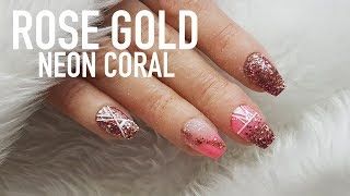 Video SHORT ACRYLIC NAILS | ROSE GOLD AND CORAL | BABY COFFIN SHAPE download MP3, 3GP, MP4, WEBM, AVI, FLV Juni 2018