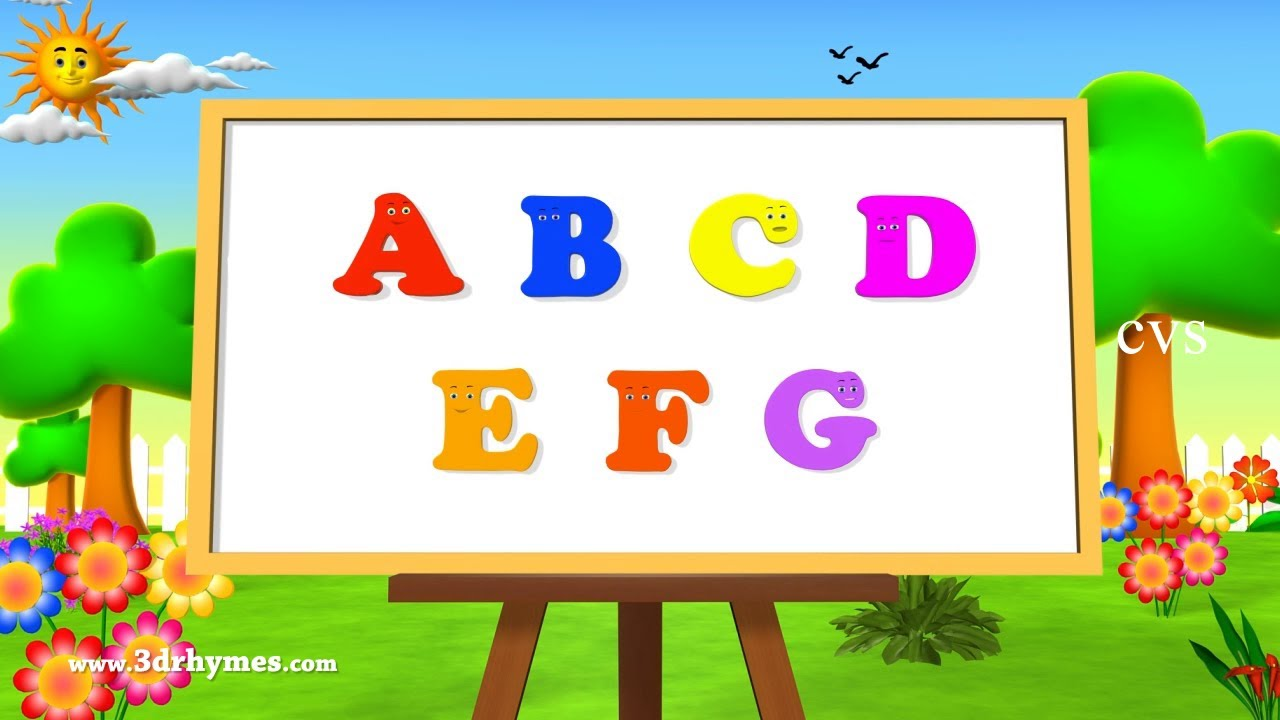 abc song abcd alphabet songs abc songs for children 3d abc nursery rhymes youtube - Pictures For Children