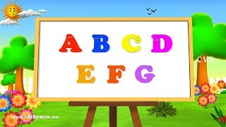 Repeat youtube video ABC Song | ABCD Alphabet Songs | ABC Songs for Children - 3D ABC Nursery Rhymes