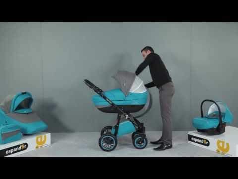 Детская модульная коляска Expander Mondo Black Line 3 в 1